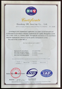 ISO9001 certification,sws-bearings